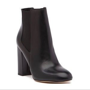 SAM EDELMAN genuine black leather booties
